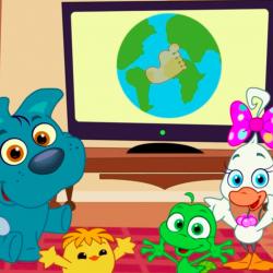 Mini Cuccioli giornata della terra bambini cartoni animati earth day 2020