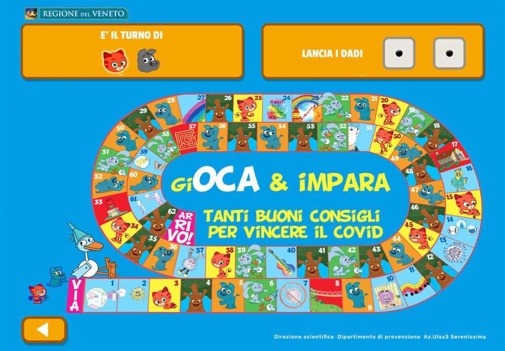 Mini Cuccioli Gioco Oca digitale per bambini covid gioco educativo